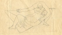 art, Nikos Bel-Jon, Lovers_-_Pencil_-_9_x_11.25