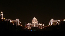 art, photo, Koshy Koshy, Rashtrapati_Bhavan_and_adjacent_buildings,_illuminated_for_the_Republic_Day