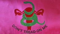 art, nn Jennifer Mokren, Uterus Flag, ArtExquisiteUterusProject