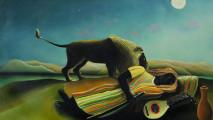 art, The Sleeping Gypsy by Henri Rousseau OSA222