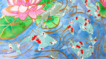 art, kblossoms, etsy, koi and waterlilly, il_570xN.724322799_1nld