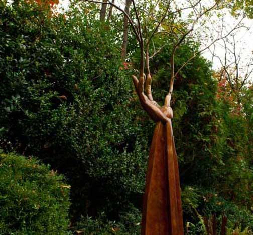 Bronze Hand, Sacred Grove, sculpture